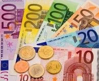 Dinero en circulación de la unión europea Fotografía de archivo