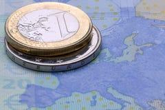 Moneda de la unión europea imagen de archivo