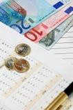 Dinero en circulación de la unión europea Imágenes de archivo libres de regalías