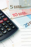 Dinero en circulación de la unión europea imagenes de archivo
