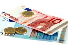 Dinero en circulación de la unión europea Fotografía de archivo libre de regalías