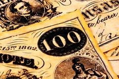 Dinero en circulación de la vendimia imagen de archivo