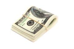 Dinero en circulación de los E.E.U.U. - 100 cuentas de dólar Foto de archivo libre de regalías