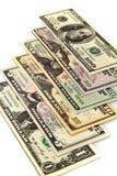 Dinero en circulación de los E.E.U.U. Imagen de archivo