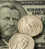 Dinero en circulación de los E.E.U.U. Fotografía de archivo libre de regalías