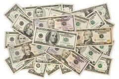 Dinero en circulación de los E.E.U.U. fotografía de archivo