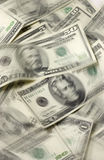 Dinero en circulación de los E.E.U.U. con el movimiento Imágenes de archivo libres de regalías