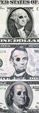 Dinero en circulación de los E.E.U.U. con los ojos morados Foto de archivo libre de regalías
