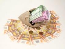 Dinero en circulación de los estados europeos Fotografía de archivo libre de regalías