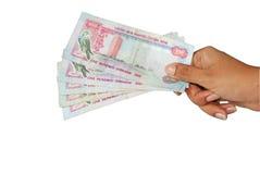Dinero en circulación de los UAE fotos de archivo libres de regalías