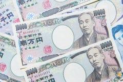 Dinero en circulación de los Yenes japoneses Imagenes de archivo