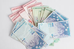 Dinero en circulación de Malasia fotos de archivo