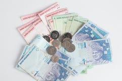 Dinero en circulación de Malasia Foto de archivo