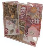 Dinero en circulación de Nueva Zelandia Foto de archivo