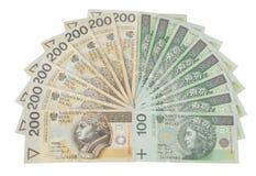 Dinero en circulación de Polonia Foto de archivo