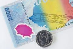 Dinero en circulación de Rumania Foto de archivo