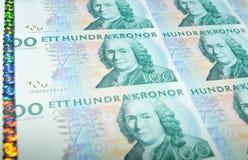 Dinero en circulación de Suecia Fotografía de archivo libre de regalías
