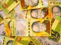 Dinero en circulación de Venezuela Foto de archivo libre de regalías