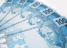 Dinero en circulación del Brasil Foto de archivo libre de regalías