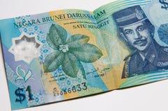 Dinero en circulación del Bruneian Imagenes de archivo