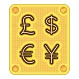 Dinero en circulación del chocolate Imágenes de archivo libres de regalías