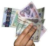 Dinero en circulación del dinero de los UAE foto de archivo