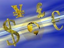 Dinero en circulación del mundo. Imágenes de archivo libres de regalías