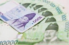Dinero en circulación del Sur Corea foto de archivo libre de regalías