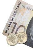 Dinero en circulación escocés Foto de archivo