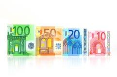 Dinero en circulación euro Fotografía de archivo libre de regalías