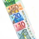 Dinero en circulación euro Imagen de archivo