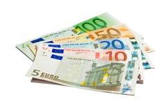 Dinero en circulación euro Fotos de archivo