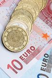 Dinero en circulación euro Fotos de archivo libres de regalías