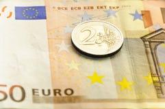 Dinero en circulación - euro Fotos de archivo