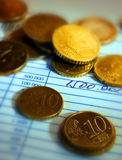 Dinero en circulación euro Foto de archivo