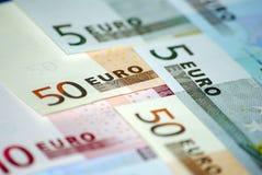 Dinero en circulación euro. Conceptual. imagen de archivo
