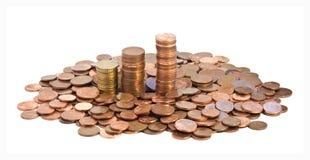 Dinero en circulación europeo Imagen de archivo libre de regalías