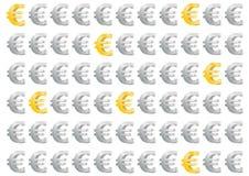 Dinero en circulación europeo - oro y plata euro del dinero Imagen de archivo