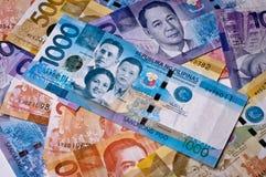 Dinero en circulación filipino Fotos de archivo libres de regalías
