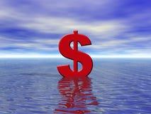 Dinero en circulación flotante Imágenes de archivo libres de regalías