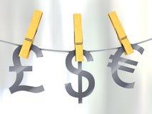 Dinero en circulación fuerte Imagenes de archivo