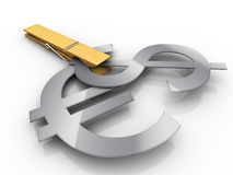 Dinero en circulación fuerte detalladamente Imágenes de archivo libres de regalías