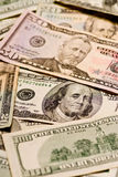 Dinero en circulación grande de la denominación Imagen de archivo