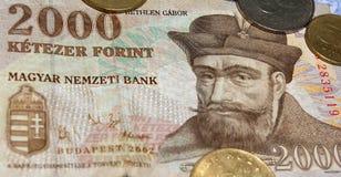 Dinero en circulación húngaro foto de archivo libre de regalías