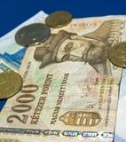 Dinero en circulación húngaro fotografía de archivo