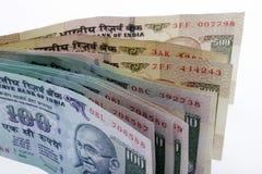 Dinero en circulación indio Fotografía de archivo libre de regalías