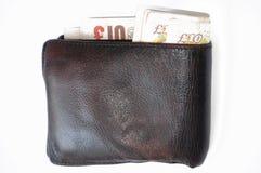 Dinero en circulación inglés foto de archivo