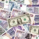 Dinero en circulación internacional Foto de archivo