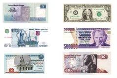 Dinero en circulación internacional Imagen de archivo
