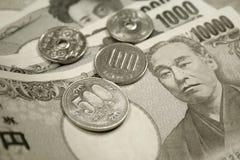 Dinero en circulación japonés Fotos de archivo